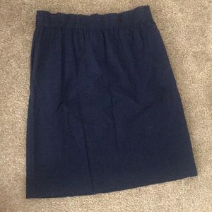 DownEast Navy Blue Pull on Skirt, Size M